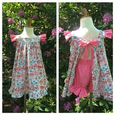 Such a fun summer dress and bloomers! @katiecaldwell921