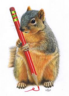 The Artiste by Karen  Hull/colored pencil                                                                                                                                                                                 More