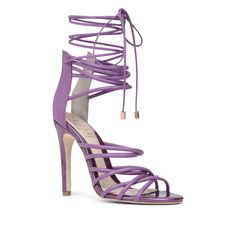 Fierce lilac strappy heels  | #shoeporn #shoelust #fashion #style