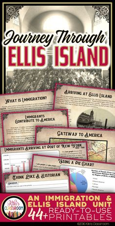 Immigration Unit: Ellis Island Activities - Reading Passages - Coming to America Ellis Island and the Immigrant Experience in the Early ~ A Complete Unit w/ Reading Passages, Primary Source Materials, Activities, & 3rd Grade Social Studies, Social Studies Activities, Teaching Social Studies, Teaching American History, Teaching History, History Education, History Essay, Study History, Oral History