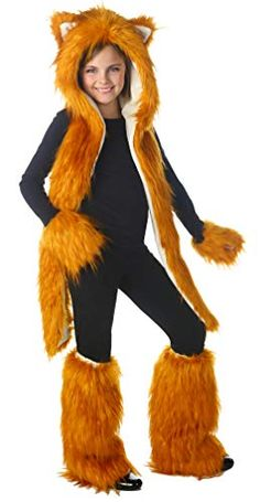 Fox Set Includes hood, leg warmers, and hand warmers. Does not include shirt, leggings, shoes. Weight (lbs) Length (inches) 19 Width (inches) 13 Height(inches) 4 Teen Costumes Multi-colored Fits Tween to Adult Everyday Female All Ages