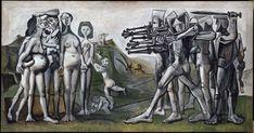"Pablo Picasso ""Massacre in Korea"" oil on plywood, 110 cm × 210 cm, Musée Picasso, Paris Pablo Picasso, Guernica, Georges Braque, Harry Truman, Francisco Goya, Trinidad, Apocalypse Now, Rare Stamps, Picasso Paintings"