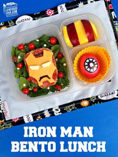 Iron Man Bento Lunch via lunchboxdad.com \ packed with @EasyLunchboxes