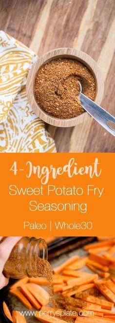 Easy Sweet Potato Fry Seasoning | sweet potato recipes | paleo recipes | Whole30 recipes