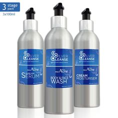 3 Stage Pro Active #Acne #Attack Pack Kit with #SilverCleanse Colloidal Silver Ion Technology. Hurry UP 17% DROP OFF!