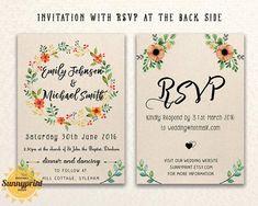 20 Free Wedding Invitation Templates Printables