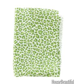 A small scale and dense design means the print can act like a solid. Cotton in Green. thibautdesign.com.