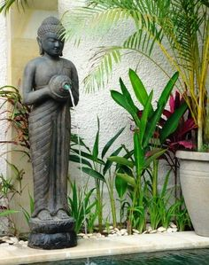 Buddha Head Water Feature Imported from Indonesia Beautifully Crafted from GRC Total Height - Tank Measures x Contact Us For Local or Interstate Shipping (Cost shown does NOT include Shipping) Balinese Decor, Balinese Garden, Bali Garden, Asian Garden, Water Garden, Pebble Garden, Garden Bed, Jardin Feng Shui, Bali Style Home
