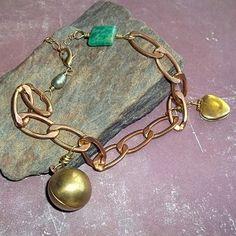 Vintage Locket Amazonite Bracelet $21