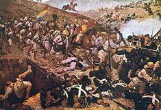 Martin Tovar y Tovar - La batalla de Boyacá fue la confrontación bélica de la guerra de independencia de América del Sur que garantizó el éxito de la campaña libertadora de Nueva Granada. Tuvo lugar el día 7 de agosto de 1819 en el cruce del río Teatinos, en inmediaciones de Tunja. La batalla se salda con la rendición en masa de la división realista, y fue la culminación de 77 días de campaña iniciada desde Venezuela por el Libertador Simón Bolívar