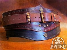 Hero belt by armrdleather, via Flickr
