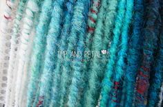Synthetic dread Extensions from Imp And Petal www.impandpetal.etsy.com #bluedreadlocks #syntheticdreadlocks #synthdreads