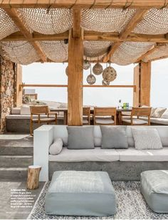Outdoor Lifestyle : Photos Terrace – Home Decoration Outdoor Seating, Outdoor Rooms, Outdoor Pergola, Diy Pergola, Modern Pergola, Pergola Canopy, Garden Seating, Indoor Outdoor Living, Home Deco