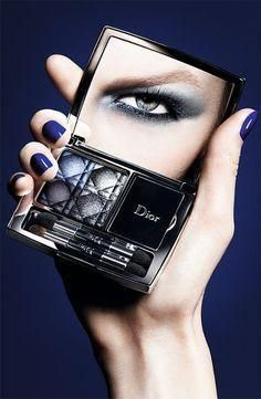 Dior Blue Tie Makeup