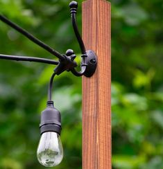 30 Ideas on How to hang Patio Lights Hanging Patio Lights, String Lights Outdoor, Backyard Lighting, Patio Lighting, Lighting Ideas, Vinyl Railing, Bistro Lights, Bulb