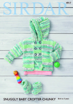 Jacket & Bootees in Sirdar Snuggly Baby Crofter Chunky - 4917 - Downloadable PDF