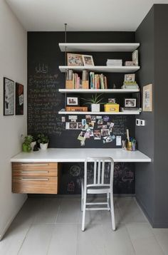 31 trendy home office ideas paint interior design Office Nook, Home Office Space, Home Office Design, Home Office Decor, Home Interior Design, House Design, Office Ideas, Small Office, Wall Design