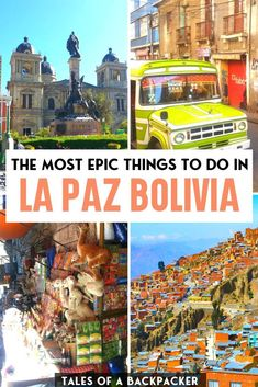 The most epic things to do in La Paz Bolivia Uganda Travel, Bolivia Travel, Thailand Travel, South America Destinations, South America Travel, Travel Destinations, Beautiful Places To Visit, Cool Places To Visit, Europe Travel Guide