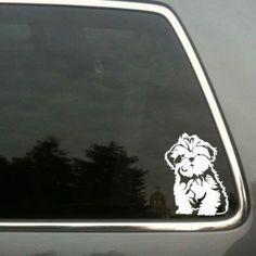 Shih Tzu car decal - I want some!