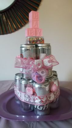 Baby shower beer cake!! Daddy AJ is going to love this :)
