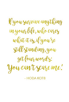 Hoda Kotb talks about the relationship she has with her post-cancer body. She never fails to share an inspirational quote.