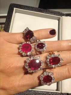 Oscar Heyman's gorgeous ruby rings.