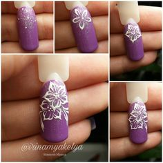 Hot Trendy Nail Art Designs that You Will Love Trendy Nail Art, Stylish Nails, Cool Nail Art, Purple Glitter Nails, Diy Nail Designs, Flower Nail Art, Nail Art Hacks, Nail Tutorials, Design Tutorials