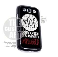 5 seconds of summer unplugged - For Samsung Galaxy S3 i9300 | TheCustomArt - Accessories on ArtFire