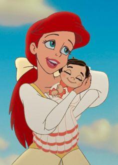 The Little Mermaid ll: Return To The Sea - Queen Ariel & her daughter, Princess Melody Ariel Disney, Disney Pixar, Disney Girls, Disney And Dreamworks, Disney Cartoons, Disney Art, Disney Characters, Disney Wiki, Mermaid Disney