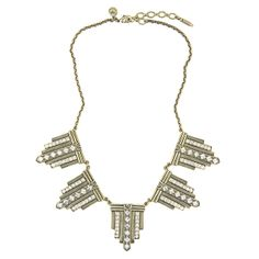 Art Deco statement necklace - Gwyneth necklace by Loren Hope