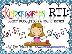 It was initially designed with kindergarten RTI in mind, specifically to meet the needs of students struggling with letter recognition and identification. This meets kindergarten - Alphabet Kindergarten, Kindergarten Activities, Letter Recognition Kindergarten, Preschool, Reading Intervention Kindergarten, Teaching Letters, Literacy Activities, Teaching Resources, Teaching Ideas