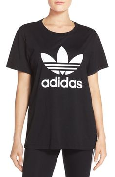 Free shipping and returns on adidas Originals Boyfriend Tee at Nordstrom.com. A slick rubber impression of the iconic adidas trefoil logo fronts this essential crewneck tee cut light and loose—great for easy and active days alike.