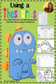 Your class will love to learn about using a thesaurus with this adorable mini-unit and create their own dinosaur.