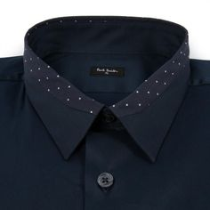 Paul Smith Men's Shirts | Navy Contrast Collar Shirt