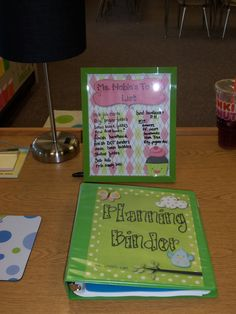 great teacher blog...easy ideas    She made a teacher to do list from a frame and scrapbook paper to keep on her desk