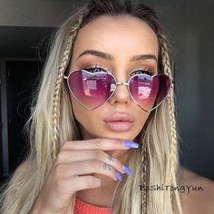9afe31def9670 Ladies Heart Sunglasses Women Designer Fashion LOVE Sunglasses UV400