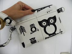 Owls Premier Large zipper/eReader/Cosmetic/Accessory/Kindle 2,3/Travel Bag-Wristlet-New Item. $20.00, via Etsy.