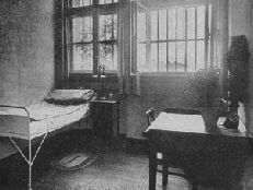 "Bavaria, Germany, Landsberg Prison - Hitler's cell, 1924. after the failed Beer Hall Putsch he was sentenced to 5 years in prison. After 9 months during which time wrote ""Mein Kampf"" he was released in Dec 1924 after he"