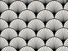 Papier peint adhésif façon Seigaiha noir, composé de ses vagues stylisées