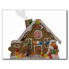 Gingerbread House Postcard | Zazzle http://www.zazzle.com/gingerbread_house_postcard-239838752626019750?rf=238020180027550641