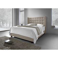 DG Casa Cream Fabric Savoy Wingback Bed