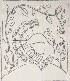 """Lets Talk Turkey"" Primitive Hooked Rug Hooking Pattern  ...~♥~"