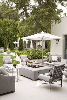 Beautiful outdoor seating