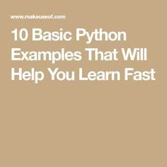 10 Basic Python Examples That Will Help You Learn Fast Computer Programming Languages, Different Programming Languages, Computer Coding, Coding Languages, Learn Programming, Python Programming, Computer Technology, Computer Science, Medical Technology