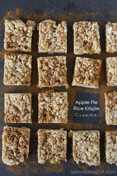 Apple Pie Rice Krispie Treats - Yellow Bliss Road