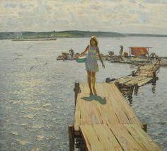 Белых Алексей Павлович (1923 г. р., Кострома). Летом на Волге. У Плеса. 1980–1988. .