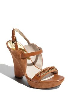 Michael Kors' Barnett Wedge Sandal in Luggage