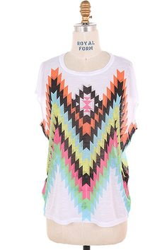 Multi Color Tribal Top - The Coveted Closet