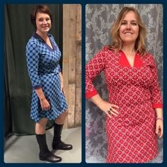 The Mimi sisters! Sandra wearing Mimi Blue and Susan wearing Mimi Red on 365 days of happy Tante Betsy dresses: Instagram Thursday