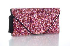 Lea Black Handbags Small Pink Clutch